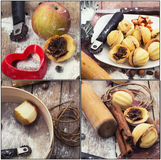 Kulinarisk collage Arkivfoto