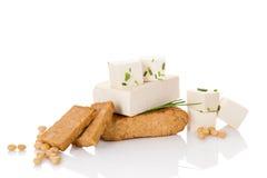 Kulinariskt äta för tofu arkivbild