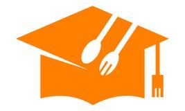 Kulinariskt klassrum Logo Design Template royaltyfri illustrationer