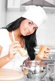 kulinarna dziewczyna Zdjęcie Royalty Free