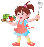 kulinarna dziewczyna trochę Zdjęcie Stock