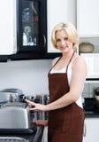 kulinarna gospodyni domowa Zdjęcie Stock