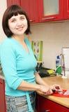 kulinarna kobieta Obrazy Royalty Free