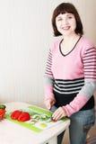 kulinarna kobieta Zdjęcie Stock
