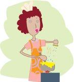 kulinarna kobieta ilustracji