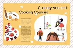 Kulinarna sztuka I Kulinarni kursy Plakatowi ilustracja wektor