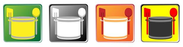 Kulinarne ikony Zdjęcie Royalty Free
