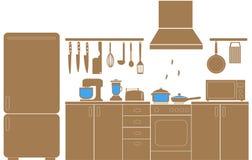 Kulinarne ikony wektorowe Zdjęcia Royalty Free