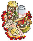 kulinarne pieczarki Fotografia Stock