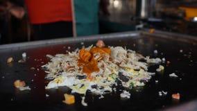 Kulinarnego kothu parotta prawdziwy popularny jedzenie w Tamilskim nadu, Kerala India i Sri Lanka Korzenny gorący Indiański naczy zbiory