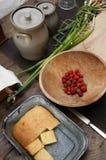 kulinarnego kraju gospodarstwa rolnego świeży domowy domowej roboty Zdjęcie Royalty Free