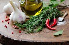 kulinarni świezi składniki obraz stock