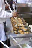 Kulinarni dyniowi fritters w Walencja, Spain podczas fallas fest Fotografia Royalty Free