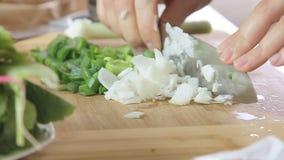 Kulinarni i tnący warzywa zbiory wideo