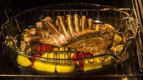 kulinarni jagnięcy kotleciki w piekarniku zbiory