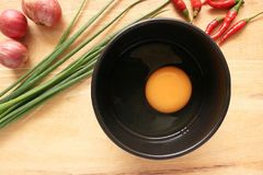 Kulinarni jajka Obrazy Royalty Free