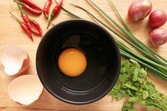 Kulinarni jajka Obrazy Stock