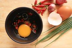 Kulinarni jajka Fotografia Royalty Free