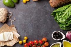 Kulinarni karmowi składniki obrazy stock