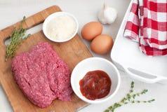 Kulinarni Meatloaf składniki obraz royalty free