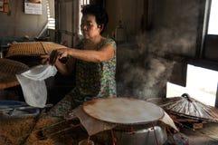Kulinarni ryżowi torty fotografia royalty free