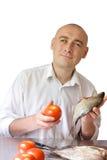 kulinarni rybi mężczyzna Zdjęcie Stock