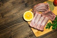 Kulinarni sukulentów ziobro w kuchni w domu Haute kuchnia w domu koszerny jedzenie podczas wakacji Fotografia Stock