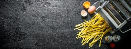 Kulinarny domowej roboty makaron fotografia stock