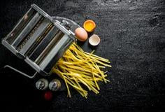 Kulinarny domowej roboty makaron zdjęcia stock