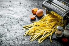 Kulinarny domowej roboty makaron zdjęcie royalty free