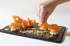 Kulinarny emmental melon Zdjęcia Stock