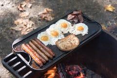 Kulinarny jedzenie nad otwierał ogień Zdjęcia Stock