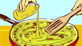 Kulinarny kumberland w Smaży niecce Zdjęcia Royalty Free
