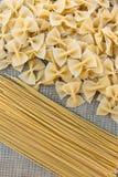 Kulinarny makaronowy makaron knedle tła jedzenie mięsa bardzo wiele Fotografia Stock