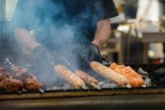 Kulinarny mięso na grillu zdjęcia stock