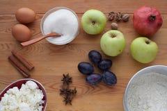 Kulinarny nieociosany śliwka tort Zdjęcia Royalty Free