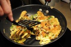 Kulinarny omlet Zdjęcia Royalty Free