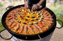 Kulinarny paella gdziekolwiek Fotografia Royalty Free