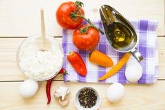 Kulinarny pojęcie - set zdrowi produkty fotografia stock