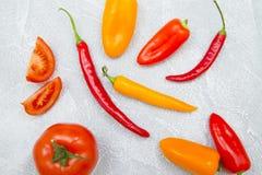 Kulinarny pojęcie - set zdrowi produkty zdjęcia stock