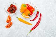 Kulinarny pojęcie - set zdrowi produkty obrazy stock