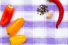 Kulinarny pojęcie - set zdrowi produkty fotografia royalty free