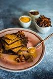 Kulinarny poj?cie z r??nymi typami czekolada fotografia stock