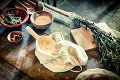 Kulinarny położenie w rocznika stylu Fotografia Stock
