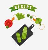 kulinarny przepisu projekt ilustracja wektor