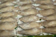 Kulinarny Rosyjski varenyky z wiśniami Obraz Royalty Free