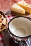 Kulinarny serowy fondue Zdjęcie Royalty Free