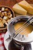 Kulinarny serowy fondue Fotografia Royalty Free