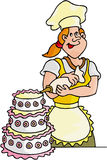 kulinarny sprzedawcy sweet Ilustracja Wektor
