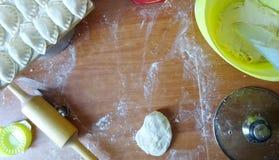 Kulinarny stół obraz royalty free